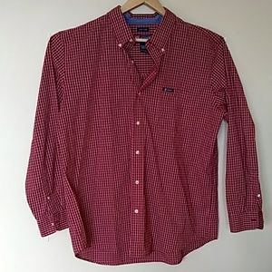Chaps long sleeve shirt red white checks XL